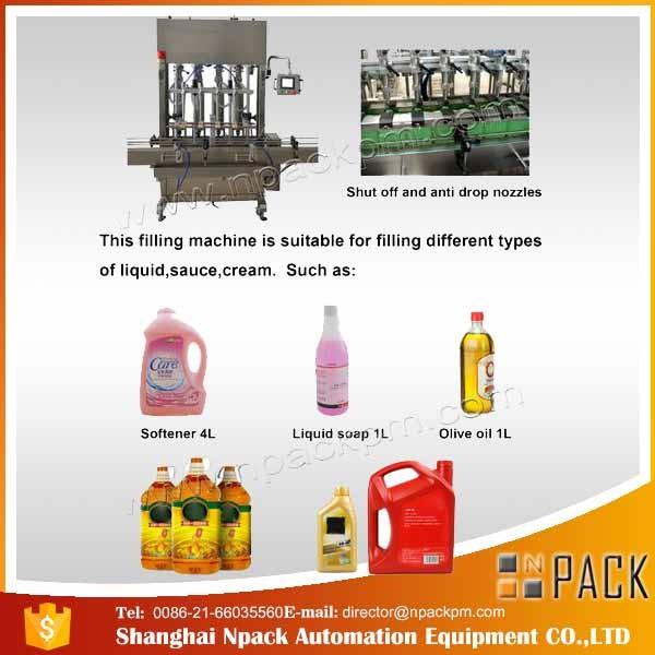 Automaattinen 2, 4, 6, 8, 10, 12 pään syötävä ruokaöljyn täyttölaite