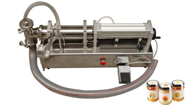 Puoliautomaattinen korkeaviskositeettinen nestemäinen hunajaa täytettävä kone