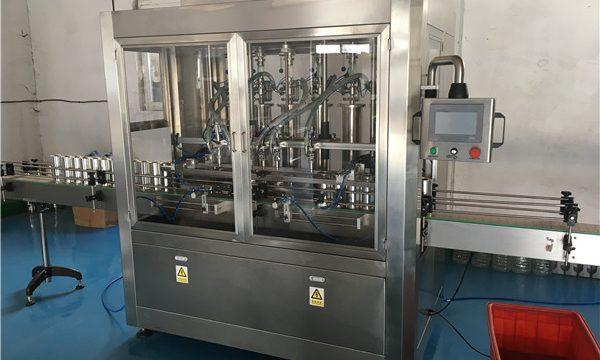 Lasipullokastike täyttö kone