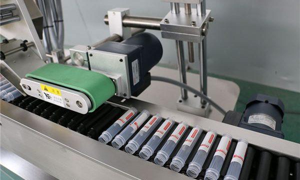 Vaakasuora automaattisen injektiopullon merkinnät