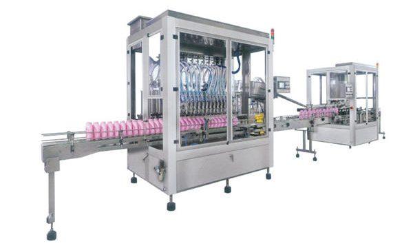 Täysin automaattinen nestemäisessä saippuapesuaineessa täytettävä kone